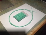 Picture of Filament made using natural ABS and green colorant