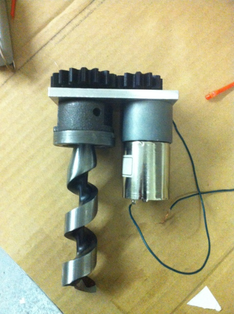 Screw motor with PLA gears